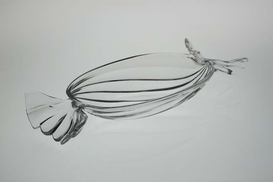 Блюдо сервировочное хрустальное (34,5 см)  BOHEMIA 4029