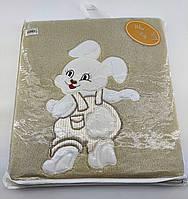 Дитячий плед ковдру Туреччина для новонародженого махровий кави з молоком (НДП44)