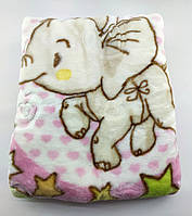 Дитячий плед ковдру Туреччина для новонародженого подарунок рожевий (НДП48)
