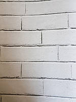Обои флизелиновые экологически чистые Decoprint Good Vibes 0.53х10 молодежные под кирпич белые светло серые, фото 1