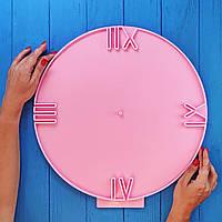 """Силиконовый молд """"Часы"""" для заливки смолы в техниках ResinArt, диаметр 39 см, м. 415"""