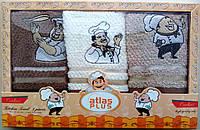 Набор махровых салфеток Atlas Plus для кухни (Повар) 30*50 Турция