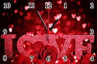 """Настенные часы """"LOVE"""""""