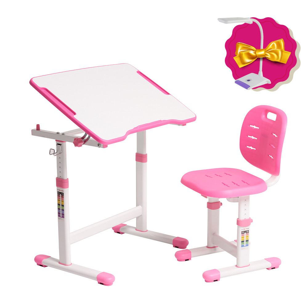Комплект парта + стул трансформеры Omino Pink FunDesk