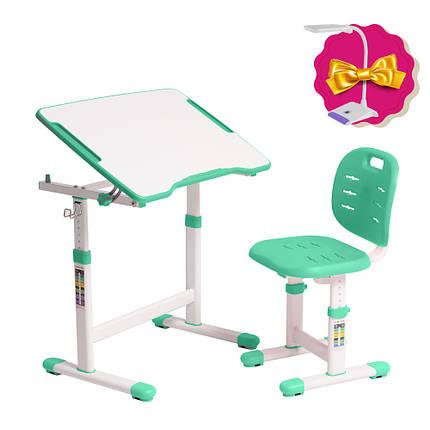Комплект парта + стілець трансформери Omino Green FunDesk, фото 2