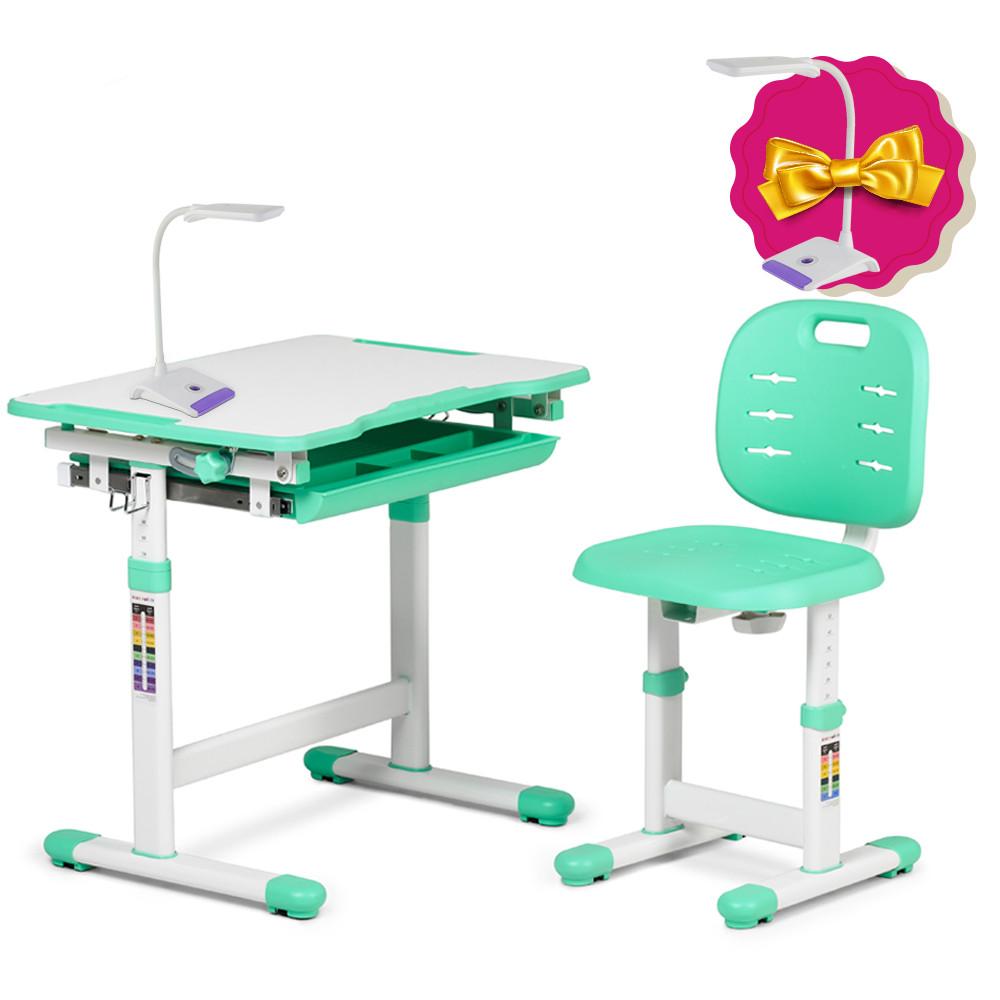 Комплект парта + стул трансформеры Piccolino III Green FunDesk