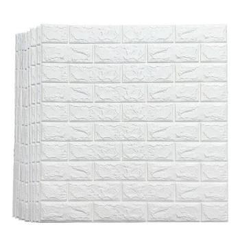 Самоклеюча декоративна 3D панель під білий цегла 700х770х5мм