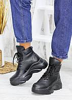 Ботинки шкіряні Grand чорні 7537-28, фото 1