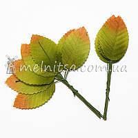 Искусственный лист розы зеленого цвета, 5 см