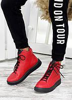Ботинки червона шкіра Ultimatum 7667-28, фото 1