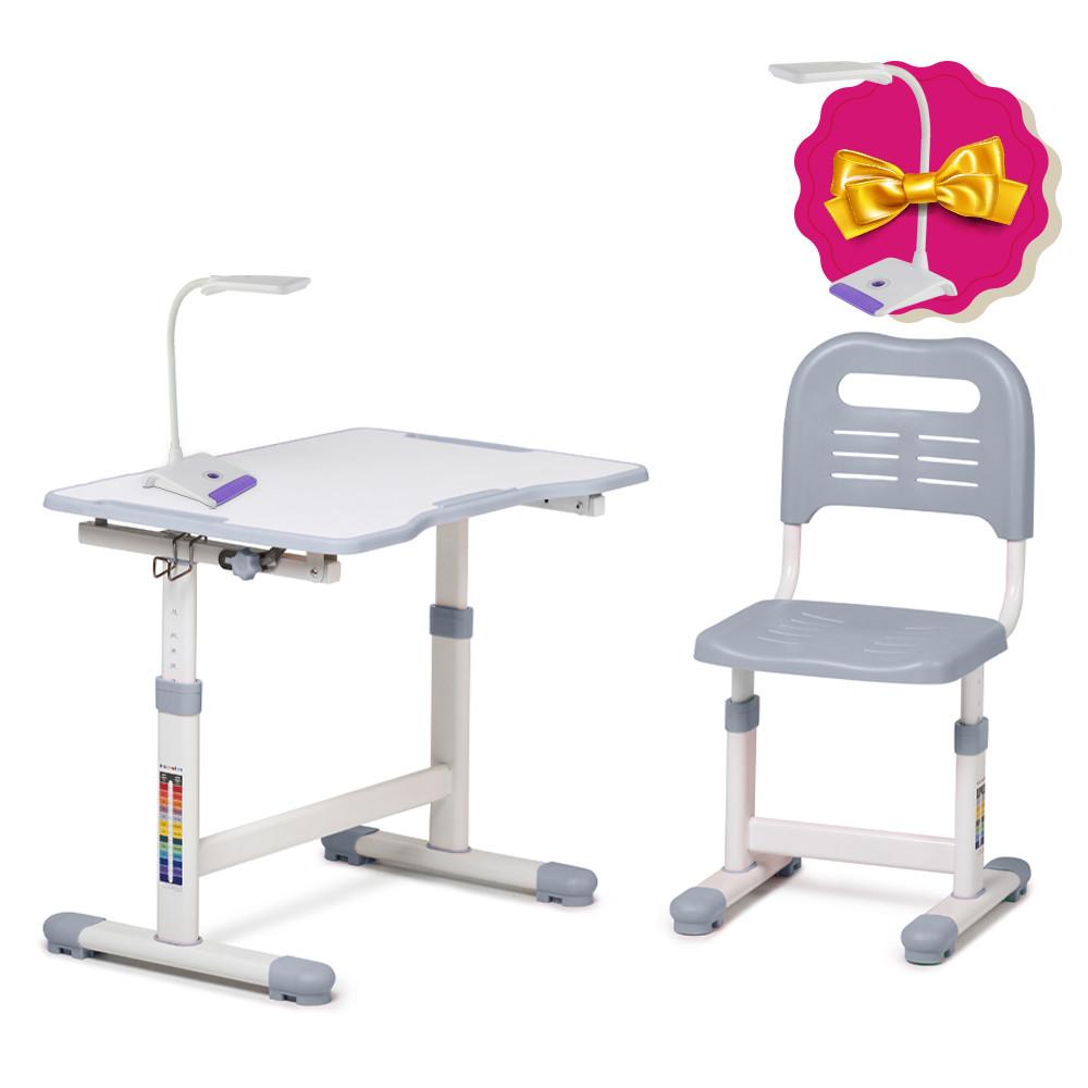Комплект парта і стілець-трансформери FunDesk Sole II Grey
