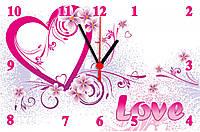 """Настенные часы """"Сердечко с цветами"""", фото 1"""