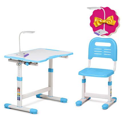 Комплект парта і стілець-трансформери FunDesk Sole II Blue, фото 2