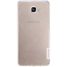 Чехол накладка силиконовый TPU Nillkin Nature 0.6 мм для Samsung Galaxy A9 2016 A9000 белый
