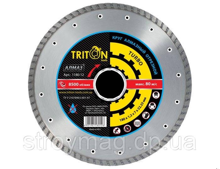Круг алмазный отрезной TURBO Triton-tools 115мм - Интернет магазин stroymag.dp.ua в Днепре