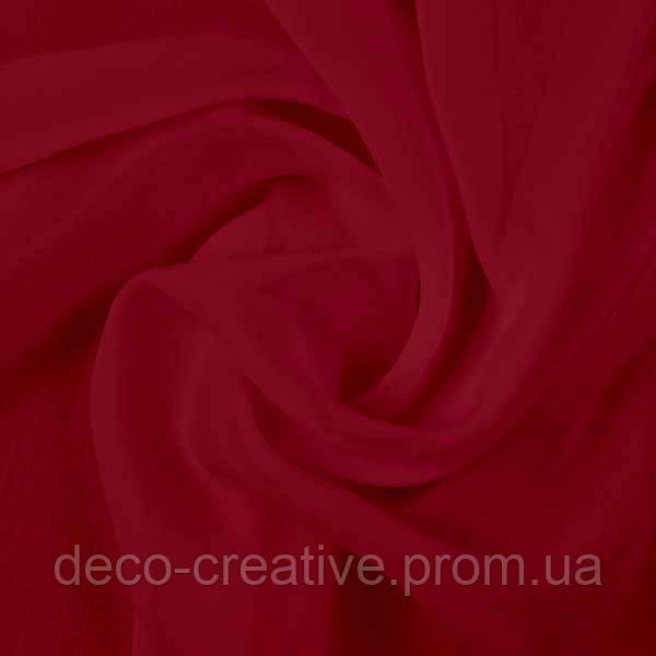 Ткань шифон однотонный, цвет бордо