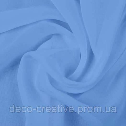 Тюль шифоновая голубая