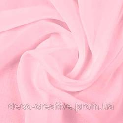 Тюль шифоновая розовая готовая