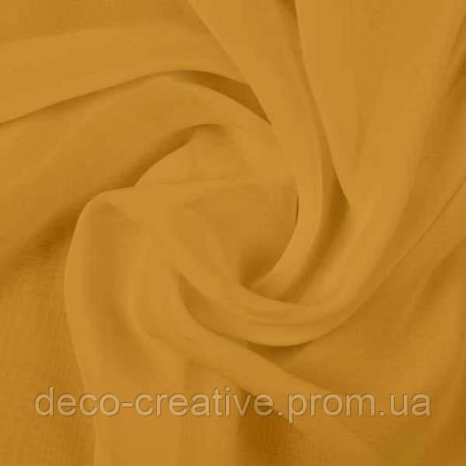 Тюль шифон однотонный, цвет янтарный