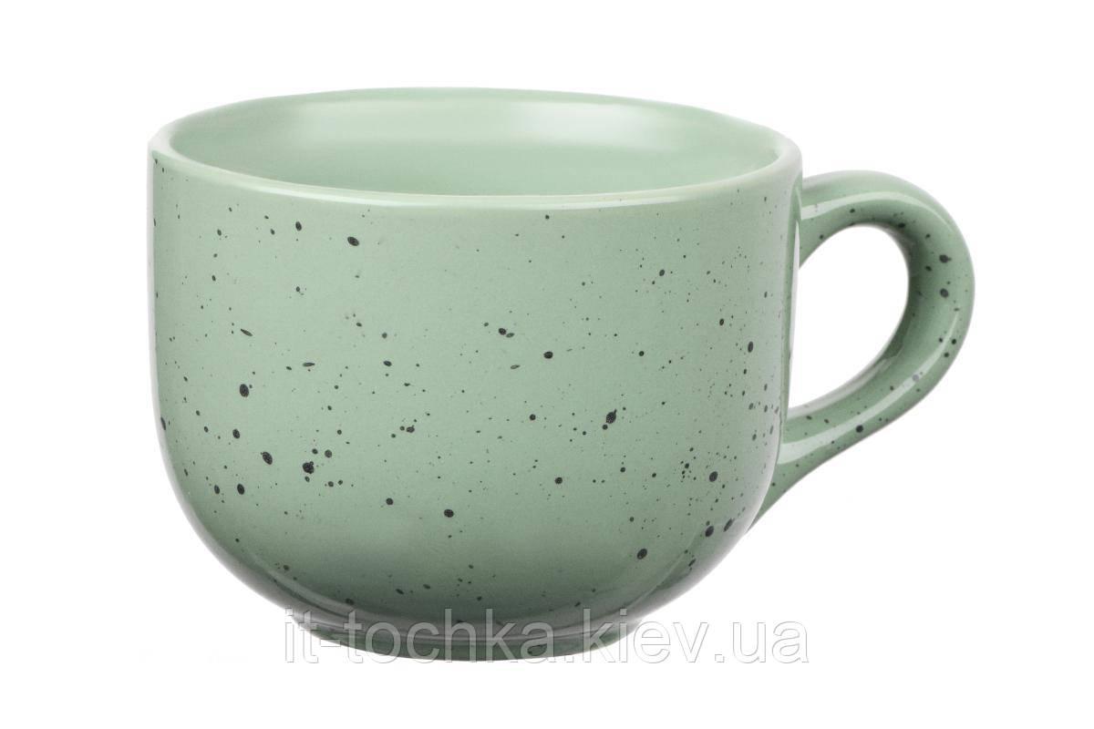 Чашка керамика ardesto bagheria 480 мл pastel green (ar2948ggc)