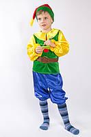 Карнавальный костюм для мальчиков Гномик зеленый 104р.