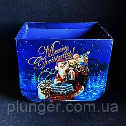 Коробка-кошик новорічна 16,5*12*12,5 см