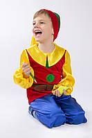 Дитячий карнавальний костюм ГНОМИК червоний 92р.