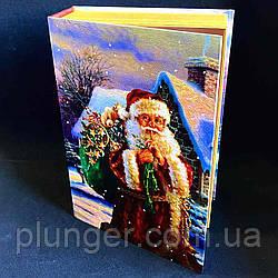 Коробка-книга новорічна 29,5*22,3*8 см Санта
