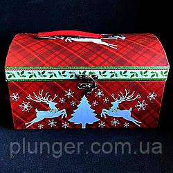 Коробка-скриня новорічна 24*16*14,5 см