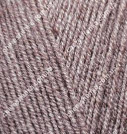 Нитки Alize Lanagold Fine 240 коричневый меланж, фото 2