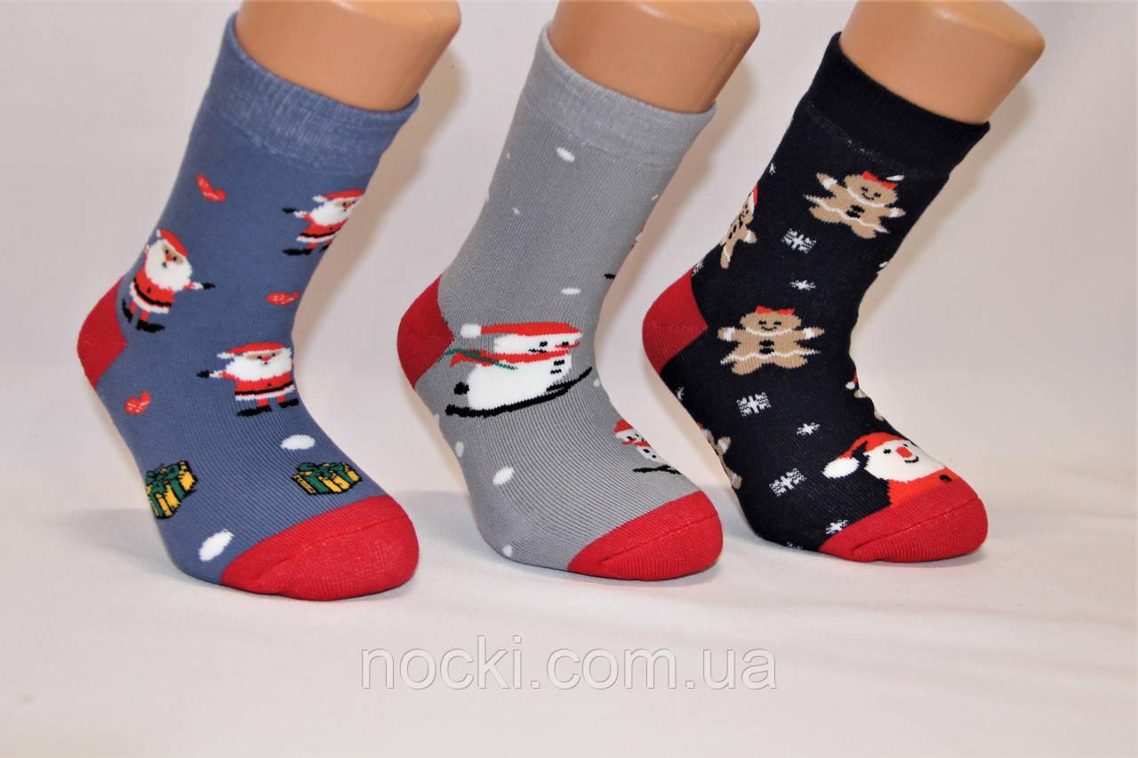 Дитячі шкарпетки махрові новорічні Стиль Люкс 18-20 к-1