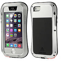 Чехол противоударный Love Mei Gorilla Glass для Apple iPhone SE 5 5S белый
