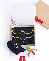 """Подарочный набор мужской. Футболка с принтом """"Batman"""", носки с принтом """"Batman"""""""