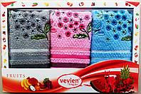 Набор махровых салфеток Vevien для кухни (Цветы2) 30*50 Турция