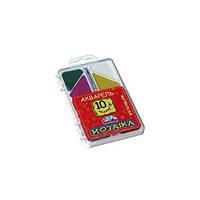 Краски Гамма Акварель 10 цв.  Мозаика. б/кисти 312052