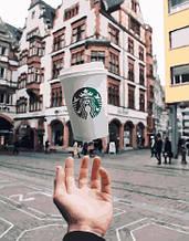 Картина по номерам Магия кофе 40*50см Brushme Премиум Starbucks Старбакс