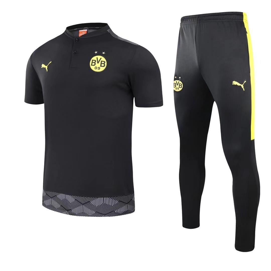Футбольний костюм поло і штани Боруссія Дортмунд чорний