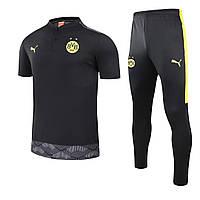 Футбольний костюм поло і штани Боруссія Дортмунд чорний, фото 1