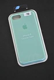 Чохол для телефону iPhone 7/8 Silicone Case original FULL №14 mint