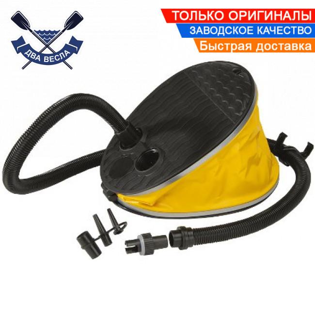 Ножной насос лягушка Foot Pump JOBE для надувных буксируемых водных аттракционов надувных лодок 2л и 4 насадки