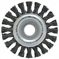 Щетка дисковая 125х22,2 мм; Скрученная жгутами стальная проволока 0,5 мм; Z20 жгутов; 12500 об / мин. IP
