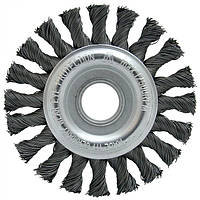 Щетка дисковая 178х22,2 мм; Скрученная жгутами стальная проволока 0,5 мм; Z32 жгутов; 12500 об / мин