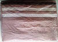 Полотенце махровое 50*90 с перламутровой полосой Турция