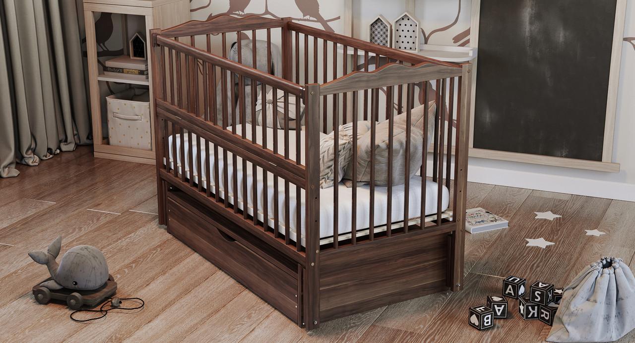 Кровать детская Дубик-М Веселка с ящиком, орех