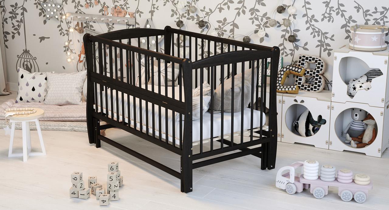 Кровать детская Дубик-М Элит с резьбой, венге
