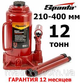 Домкрат гидравлический бутылочный, 12 т, h подъема 210-400 мм// SPARTA