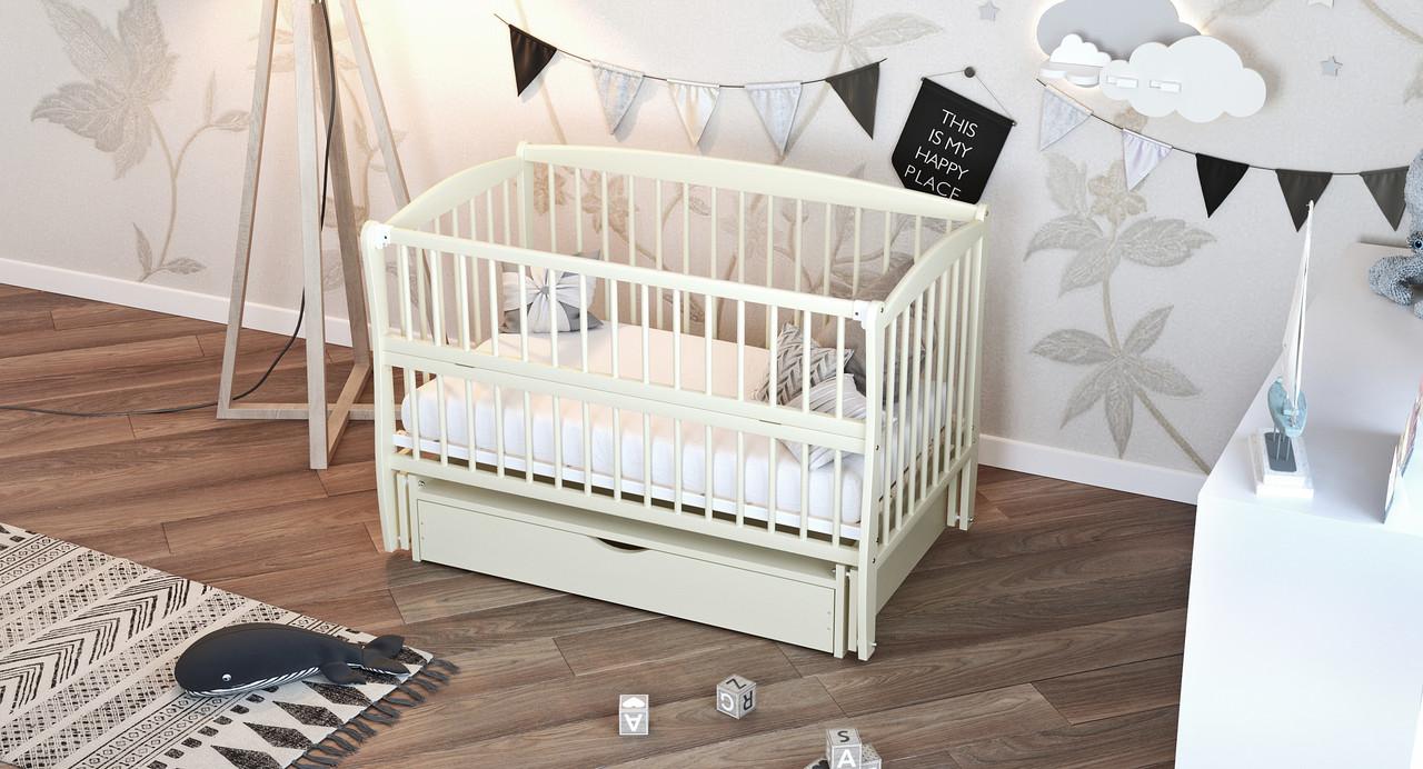 Кровать детская Дубик-М Элит с ящиком слоновая кость