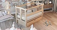 Ліжко дитяче Дубик-М Грація з ящиком, натуральна