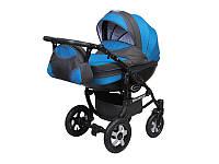 Детская коляска 2 в 1 Angelina Discovery синяя 009