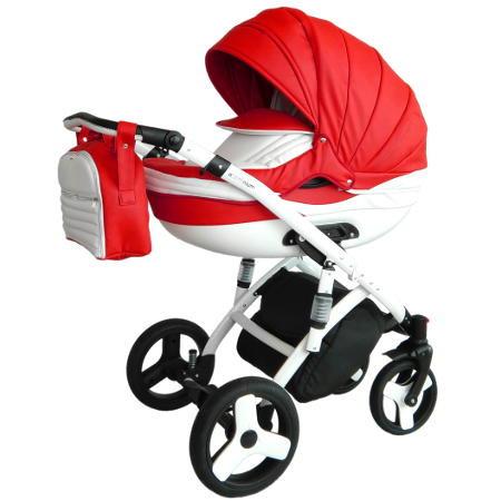 Детская коляска 2 в 1 Victoria Gold Lumi с алюминиевой рамой красная